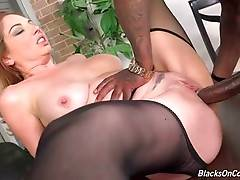 Nasty White Milf Has Fun With Black Dudes 1