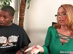 Awesome white lady longs to taste some big black dicks.