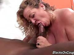 Old White Hooker Enjoys Massive Black Dick 2