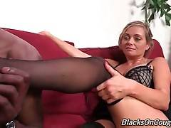 Slutty lady boss Lexxi Lash skillfully warms black guy up with hot oral.