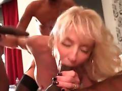 Pretty Milf Cammille Enjoys Interracial Foursome 2