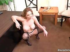 Nasty White Milf Has Fun With Black Dudes 2