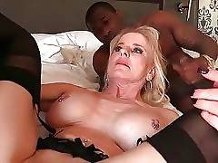 Slutty lady Cammille is fond of getting drilled by three black guys.