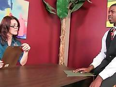 Lady Boss Charlee Chase Interviews Black Guy 1
