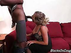 Pretty lady boss appears to be don`t mind to taste some big black dick.