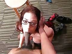 This lovely big boobed lady likes to feel big black dick in her pussy and mouth.