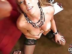Shayla LaVeaux enjoys massive black dong inside her pussy.