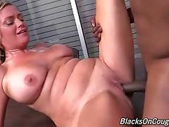 Horny Black Guy Bangs Craving White Milf 2