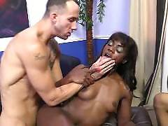 These nasty wives are getting tag teamed by giant black dicks, all while their poor husbands are made to watch! Hell be tied up and helpless to see his wife getting fucked in all holes by the most giant black dicks and feel inferior about his own. And she