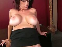 Mature hottie Charlee Chase is passionately jumping on massive black cock.