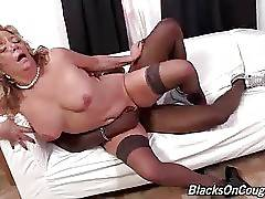 Nasty momma loves to feel massive black cock moving inside her cunt.