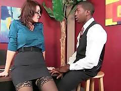 Lady Boss Charlee Chase Interviews Black Guy 2