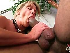 Busty Mature Blonde Fucks With Black Stud 1